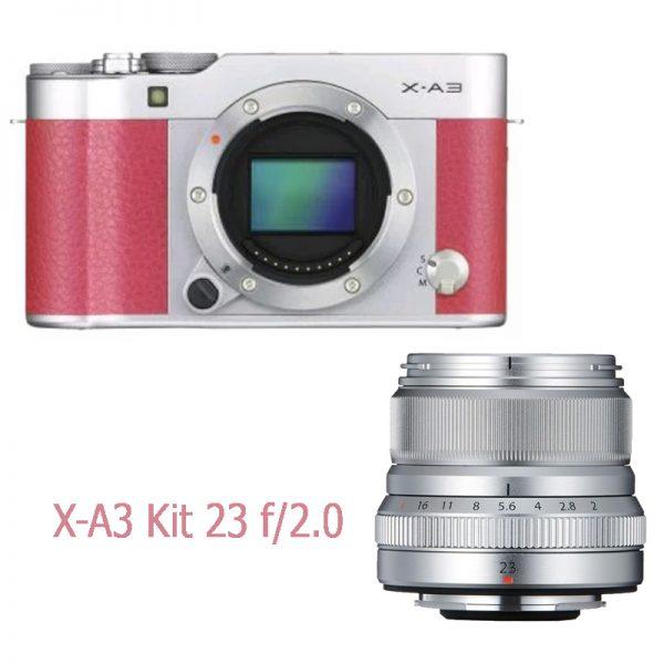 Fujifilm X-A3 Kit 23 F/2.0 Pink