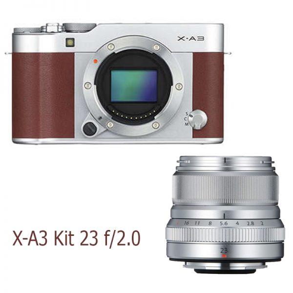 Fujifilm X-A3 Kit 23 F/2.0 Brown