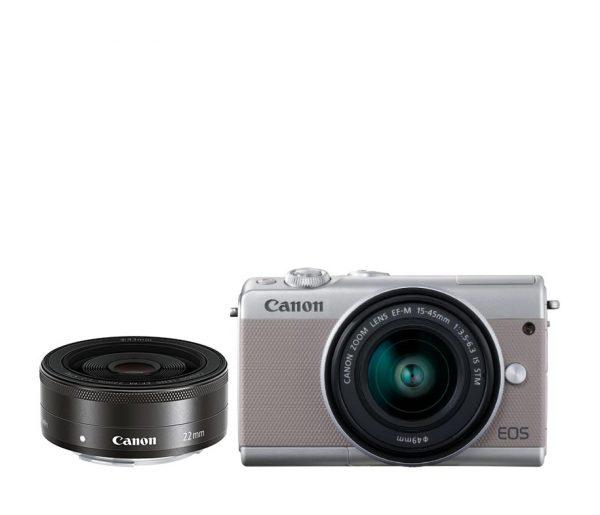 Canon EOS M100 Kit 15-45 dan 22 IS STM Gray