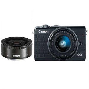 Canon EOS M100 Kit 15-45 dan 22 IS STM Black