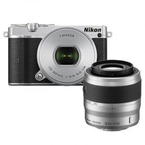 Nikon 1 J5 Kit 10-30mm + 30-110mm VR Silver