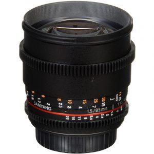 Samyang 85mm T1.5 VDSLR II For Canon