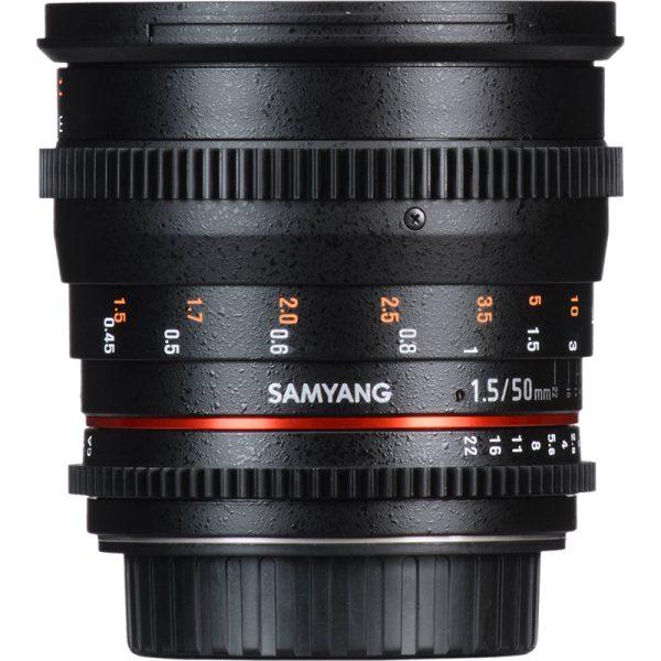 Samyang 50mm T1.5 VDSLR For Canon